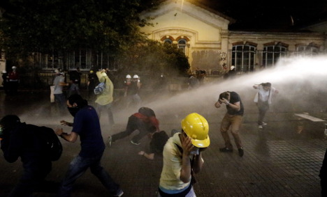 Greens' Roth sees Turkish violence live