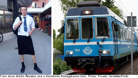 Skirts off for train driver men as shorts ban lifted