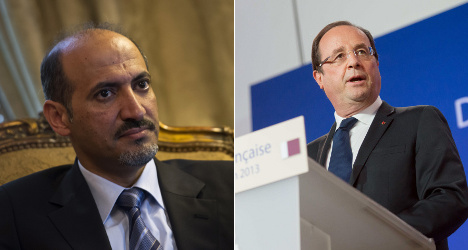 Syrian opposition to press Hollande for arms