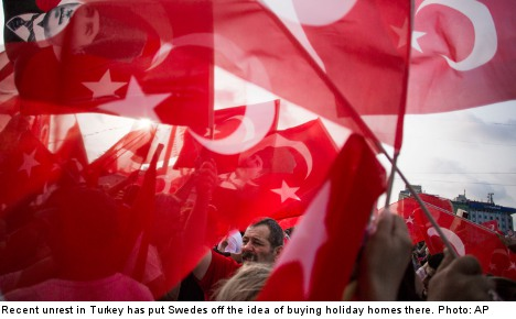 Swedes cite unrest in ruling out Turkish homes