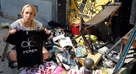 Femen HQ hit by fire after 'witches' death threat