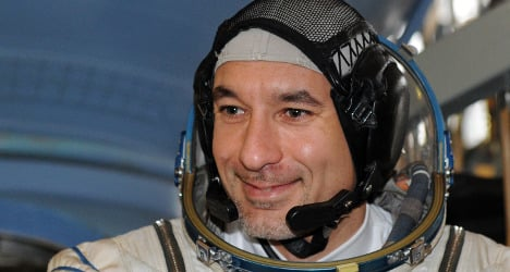Italy's first spacewalker filmed live by NASA