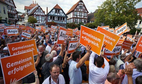 Merkel launches election campaign in tiny town