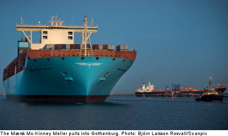 Pictures: World's largest ship docks in Sweden