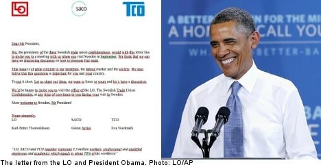 Unions red-faced over typo-strewn Obama letter