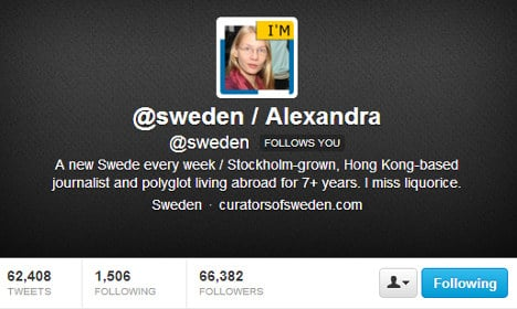 My week on Sweden's official Twitter account
