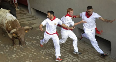 US stages Pamplona-style running of bulls