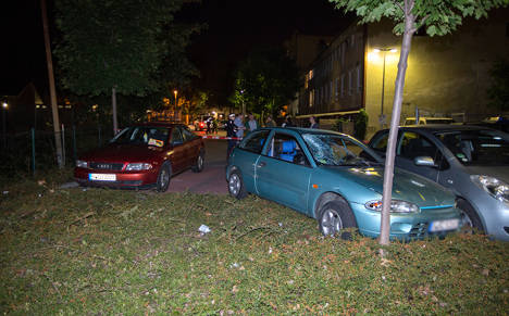 Man drives into group after family fight
