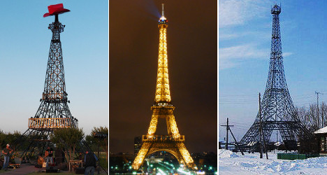 Spot the difference: Ten real Eiffel Tower replicas