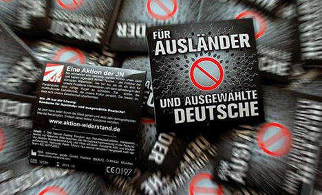 Neo-Nazis send out 'condoms for foreigners'