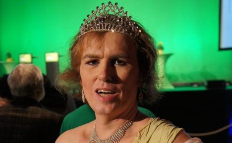 Transsexual wine queen wields tiara for rights