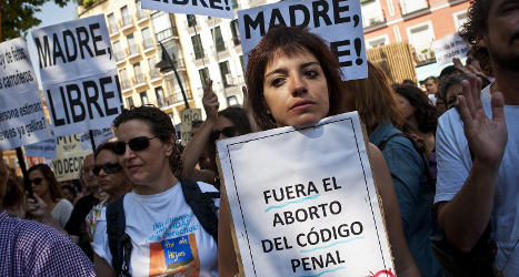 Spain set to tighten up on liberal abortion law