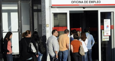 Spain's jobless rate jumps in October