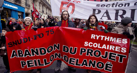French schools hit by strikes and protests