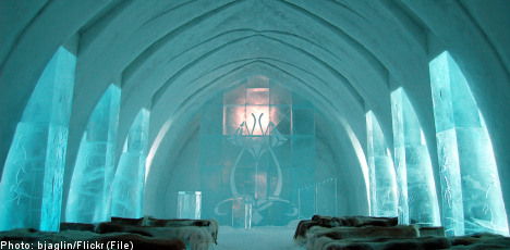 Sweden's Ice Hotel told to get fire alarms