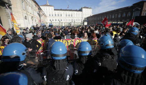 Clashes break out at Italy anti-austerity protests