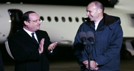 Captured French priest returns home