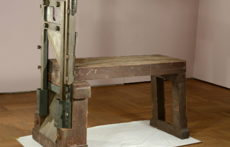 Guillotine used for anti-Nazi siblings turns up