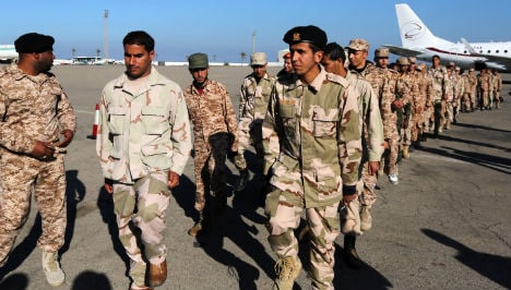 Italian boot camp trains soldiers from Libya