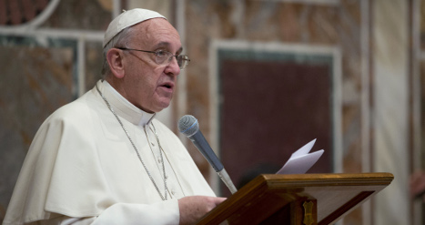Pope tweets support for US anti-abortion march