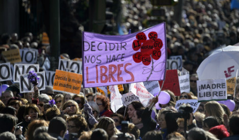 Thousands join Madrid abortion-rights rally