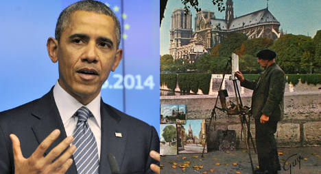 And what if Obama had become a Parisian artist?