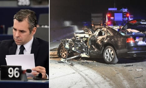 VP of EU parliament charged over crash death
