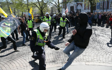 Mass arrests at neo-Nazi May Day demonstration