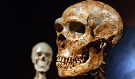 Heavy metal duo: It's 'cool' to steal a skeleton