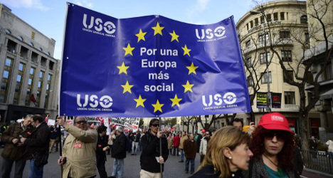 Young Spaniards turn left in lead-up to EU poll
