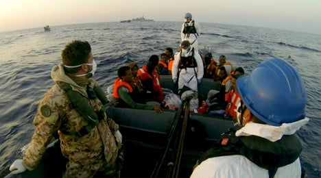 Pregnant migrants and babies saved by Italy