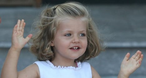 This little girl will be Spain's top military boss