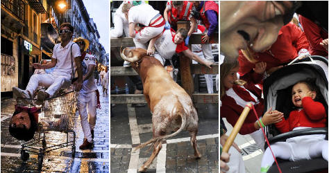 Top pics from Spain's Running of the Bulls 2014