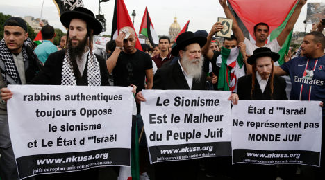 IN IMAGES: Paris protest in support of Palestinians