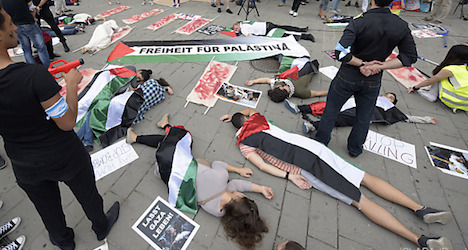 Flashmob protests Palestinian conflict