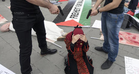 Gaza protest investigated for hate speech