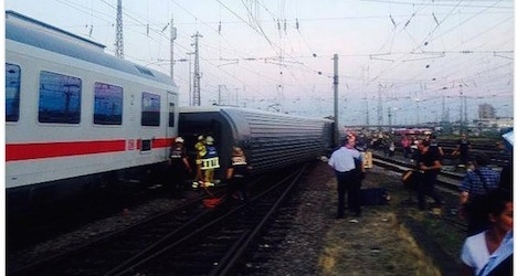 Train accident injures 35 people