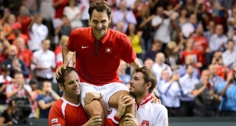 Swiss head to Davis Cup final after beating Italy