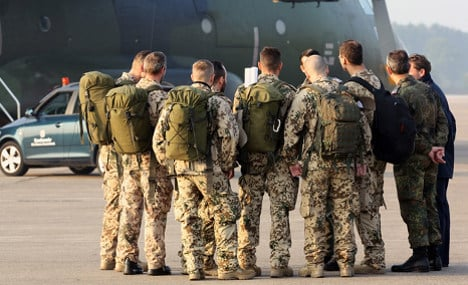 German military flight to Iraq starts with a hiccup