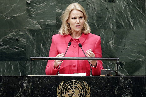 Thorning hits on climate and conflicts at UN