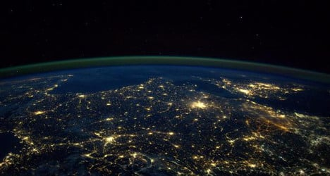 A view of France from miles above the earth