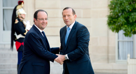 Hollande's Australia visit will be a first for France