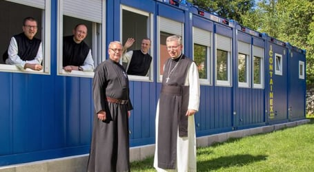 Trainee priests housed in containers