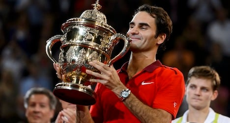 Federer crushes Goffin for Swiss Indoors crown