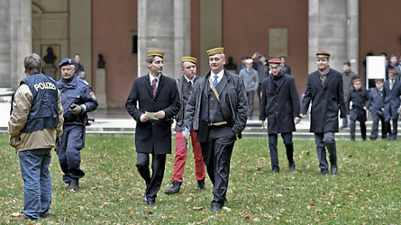 Students' Union protests against fraternities