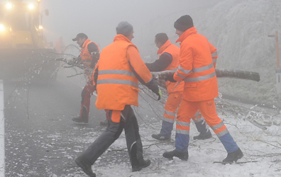 Icy conditions cause chaos in Lower Austria