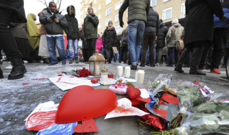 Swedes rally against mosque arson attack