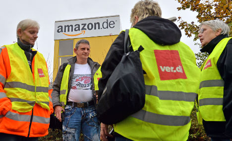 Amazon workers strike for better pay
