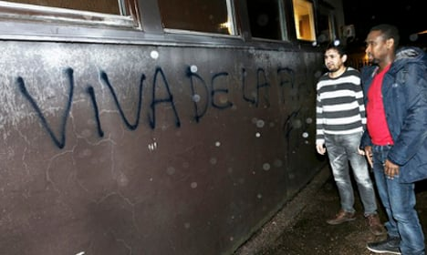 Muslim group in pig's head and graffiti attack