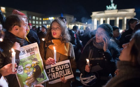 1,000 at Berlin rally for Charlie Hebdo victims